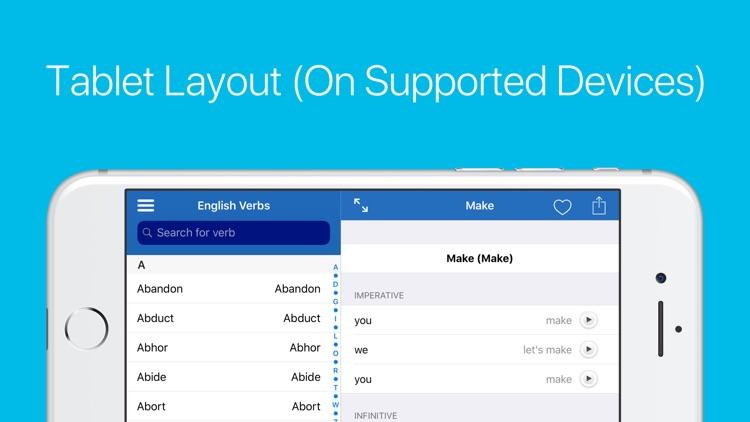 English Verb Conjugator Pro screenshot-7