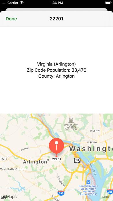 Zip Codes Screenshot