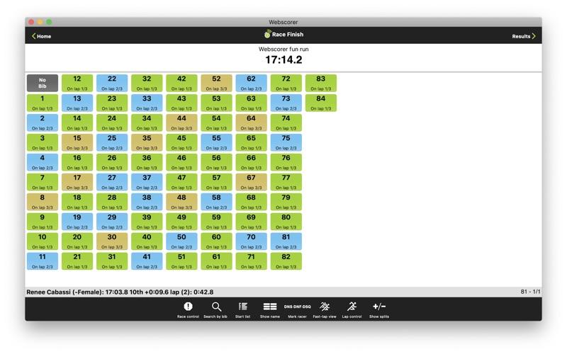 Webscorer PRO Race & Lap Timer for Mac