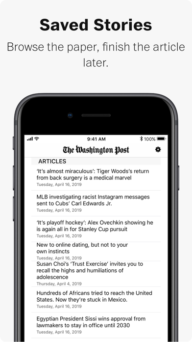 Washington Post Print Edition Screenshot