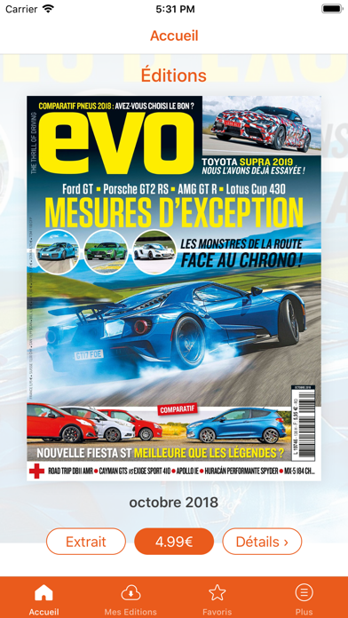 EVO magazine Screenshot