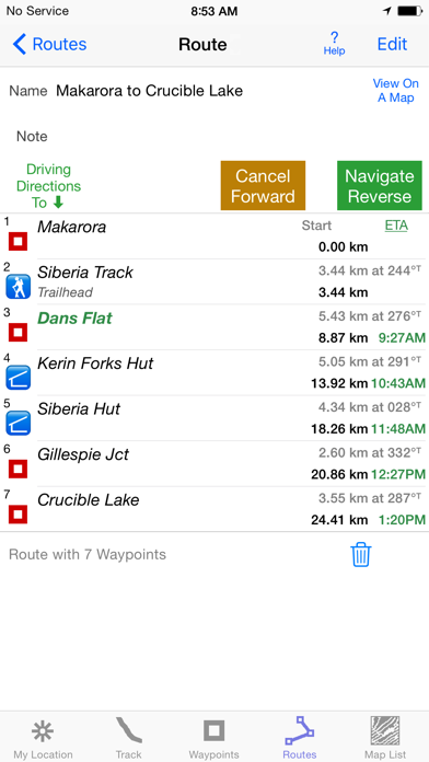 Screenshot for i Hike GPS NZ : Topo Maps in Sweden App Store