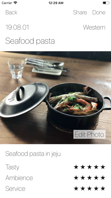 Food Diary - Photo & Story screenshot 2