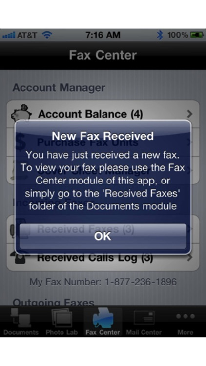 Faxing for iPhone