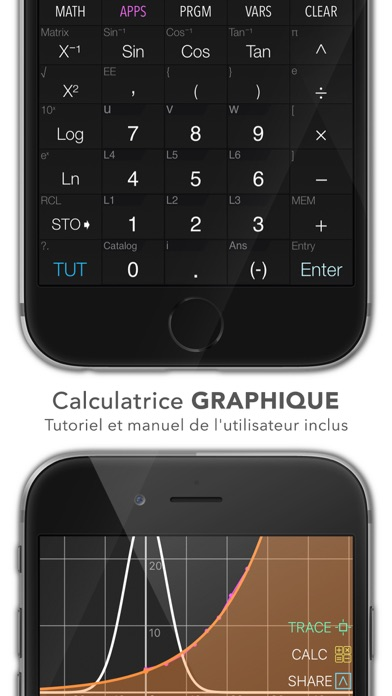 Screenshot for Graphing Calculator FR in France App Store