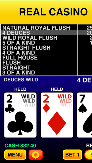 Screenshot #1 pour Deuces Wild Casino Video Poker