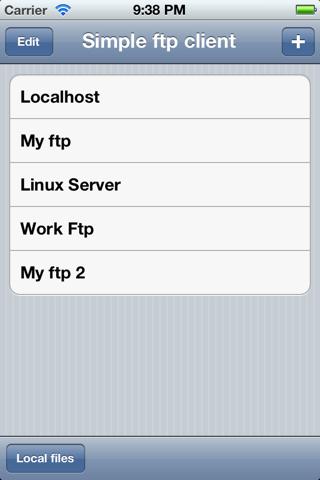 Mini ftp client - náhled