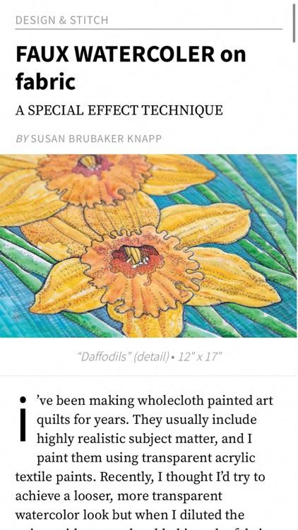Quilting Arts Magazine screenshot-6