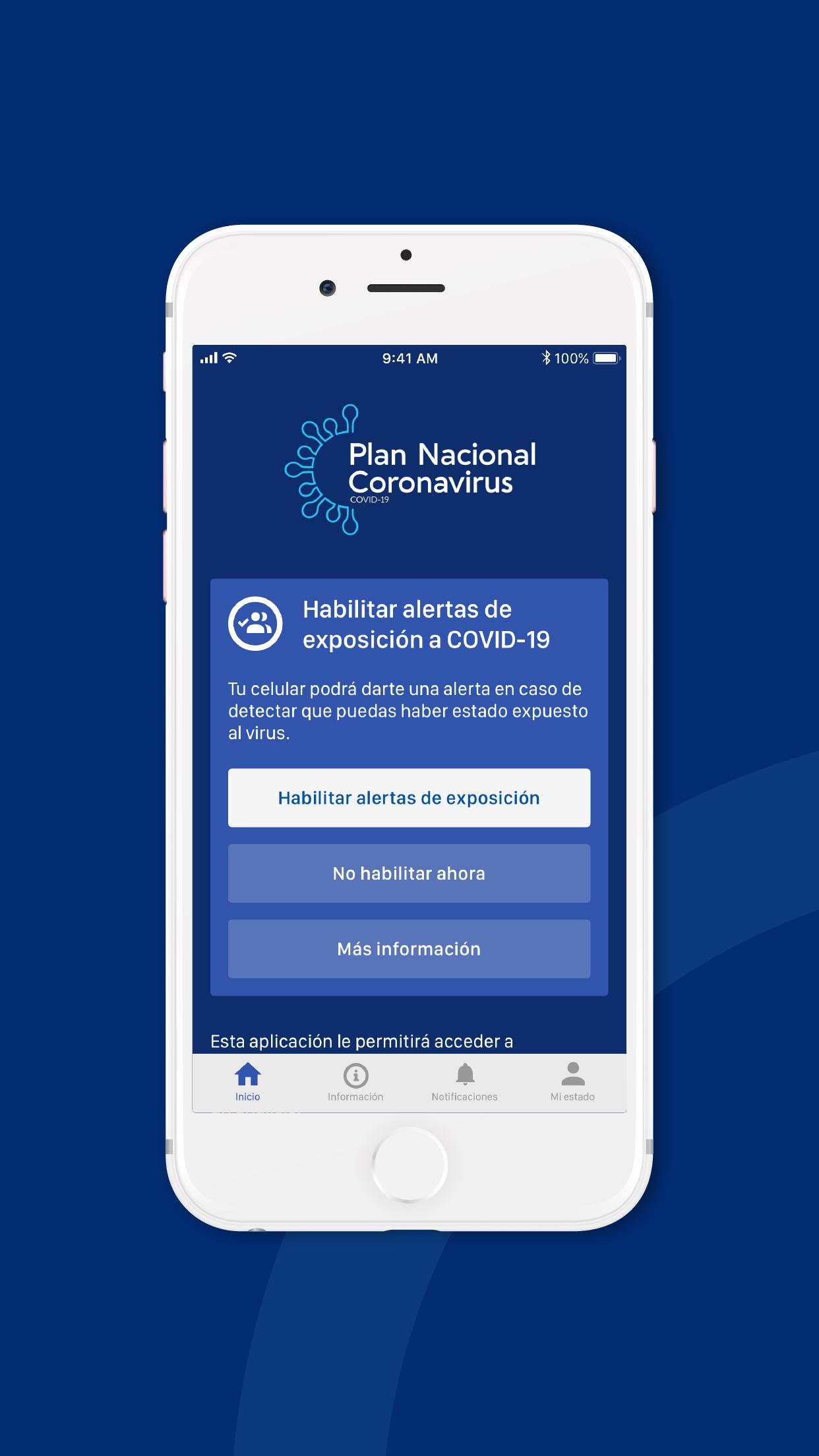 Screenshot do app Coronavirus UY