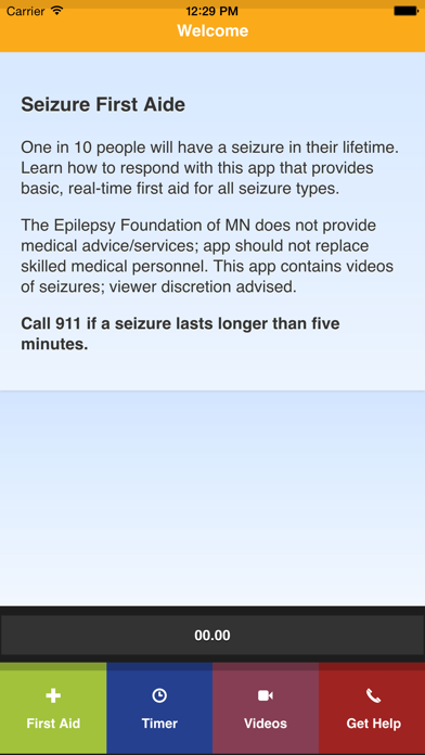 Seizure First Aide screenshot