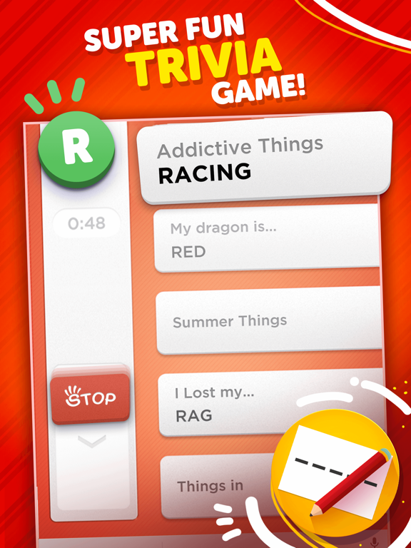 iPad Image of Stop - Categories Word Game