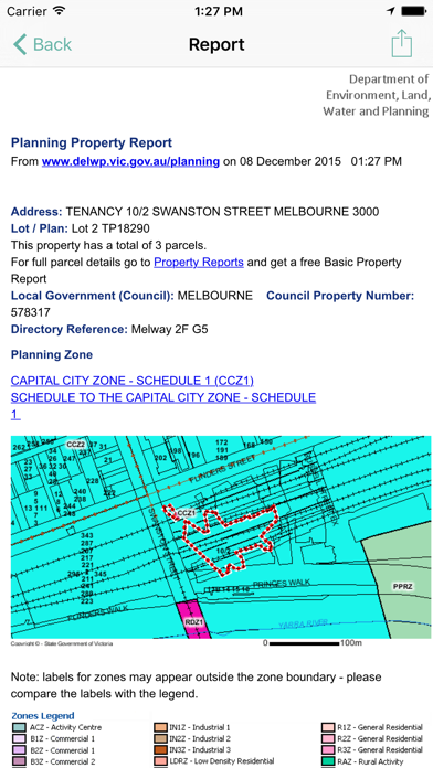 PlanningVIC screenshot three
