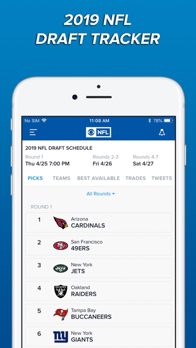Screenshot of CBS Sports App Scores & News App