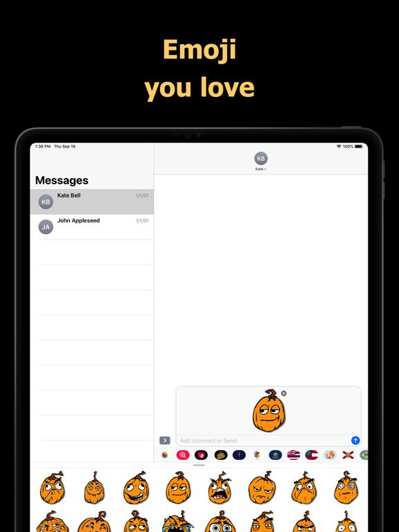Halloween Mem emoji - pumpkin screenshot 7