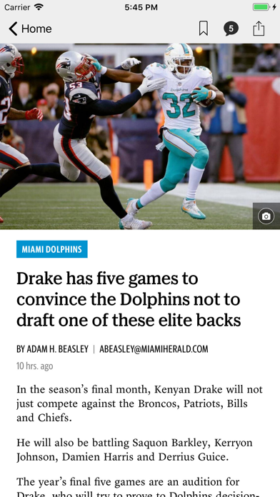 News for Dolphins Football screenshot two