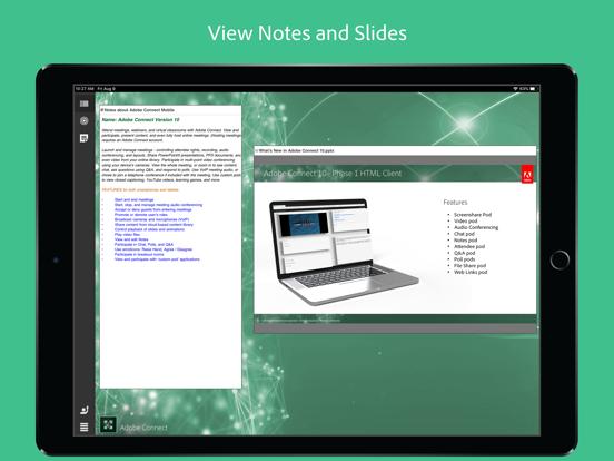 Adobe Connect ipad ekran görüntüleri