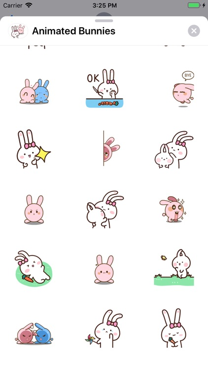 Animated Bunnies Stickers screenshot-3