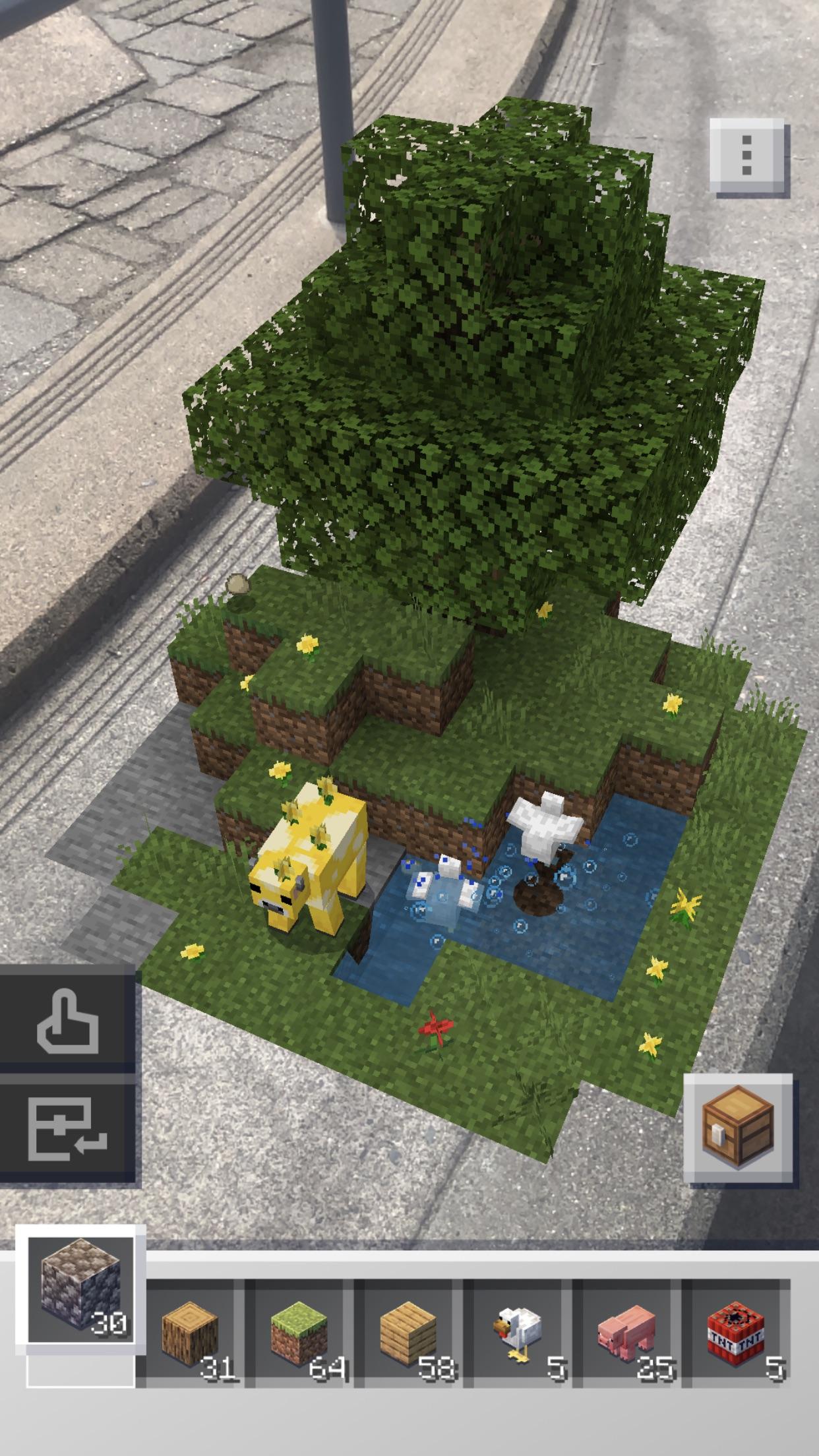 Screenshot do app Minecraft Earth