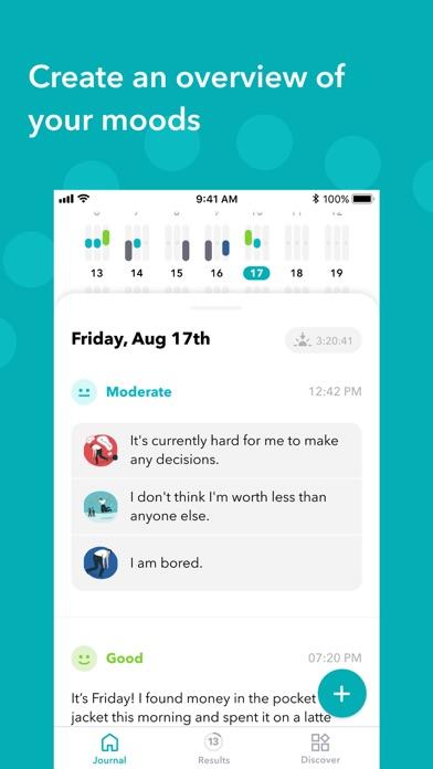Screenshot #2 pour Moodpath: Depression Test