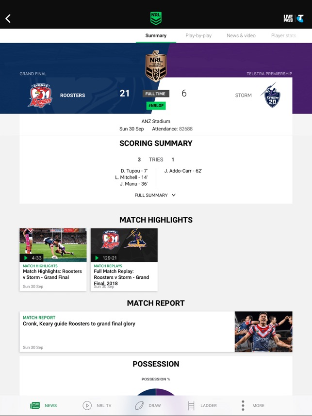 NRL Official App on the App Store