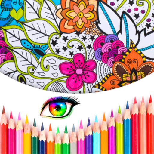 Coloring Book- Stress relaxing
