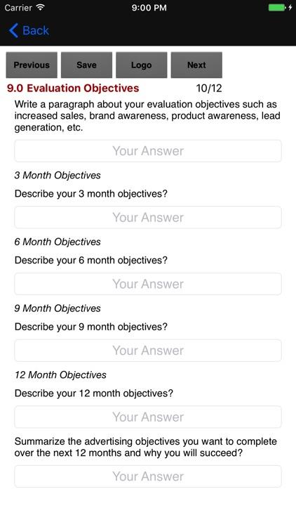 Advertising Plan Strategies screenshot-4