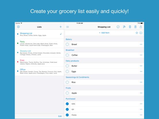 Shoppylist - Grocery List screenshot