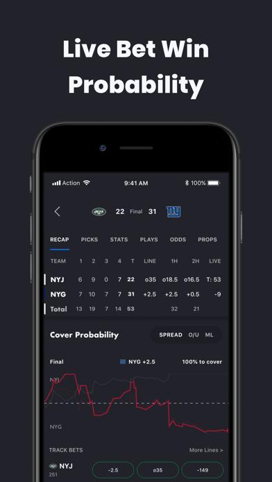 Action Network Sports Betting Screenshot