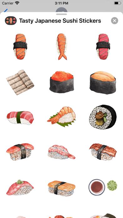 Tasty Japanese Sushi Stickers screenshot 2