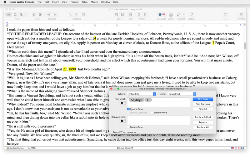 Nisus Writer Express 4 for Mac