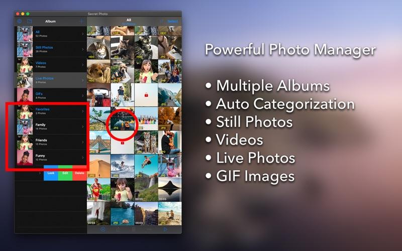 Secret Photo Vault + Bio Auth for Mac