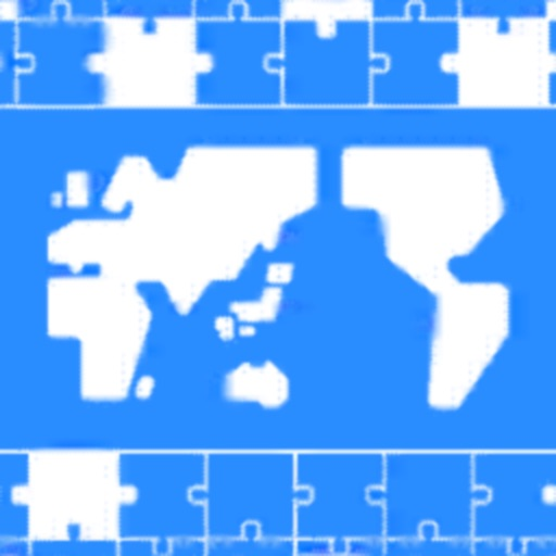 世界地名パズル-世界地図に国名・首都・国旗を入れて覚えよう