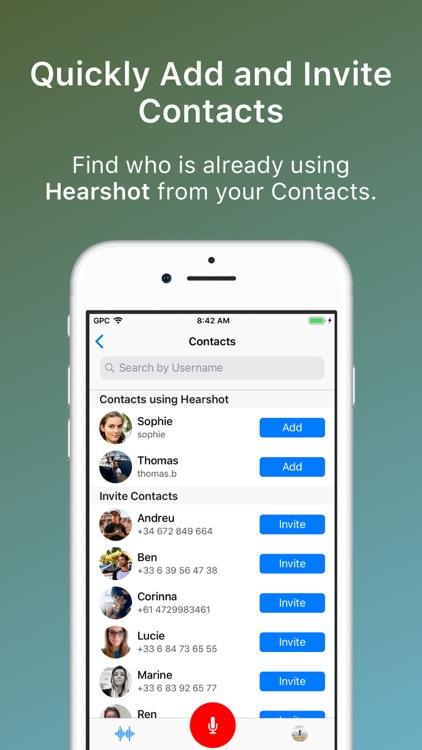 Hearshot Voice Messenger screenshot-5