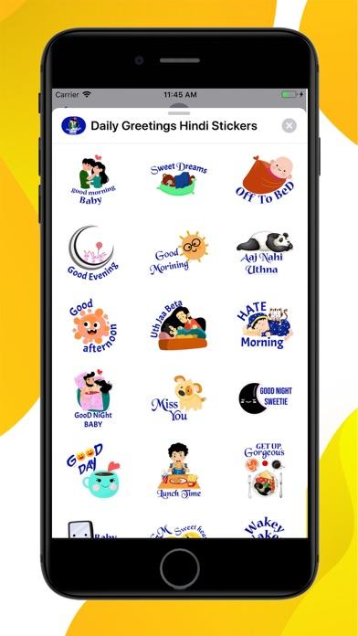 Daily Greetings Hindi Stickers screenshot 1