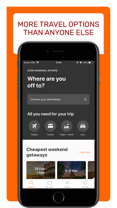 Opodo travel app: Book Cheap Hotels, Cars & Flight screenshot