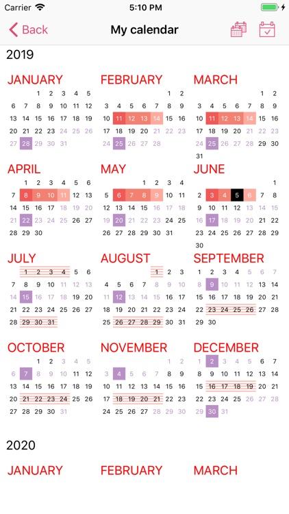 WomanLog Period Calendar screenshot-4