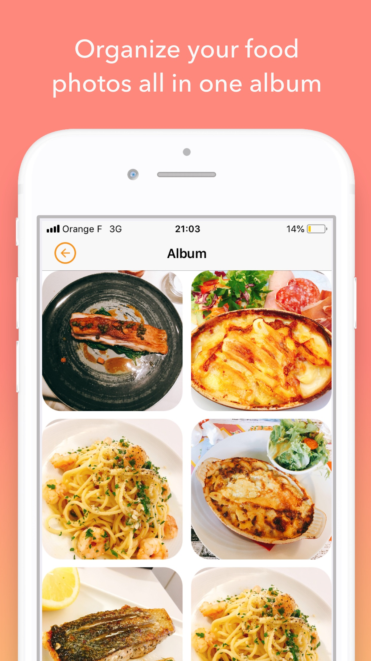 Screenshot do app FoodyLife: The Food Diary App