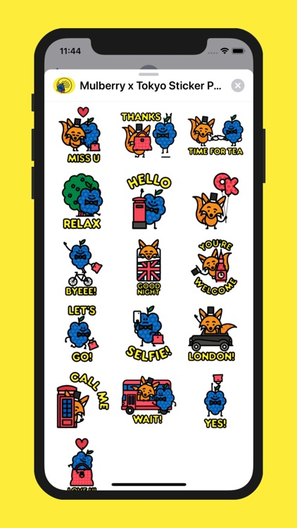Mulberry x Tokyo Stickers