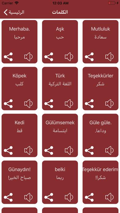 تعلم اللغة التركية للسفر screenshot 4