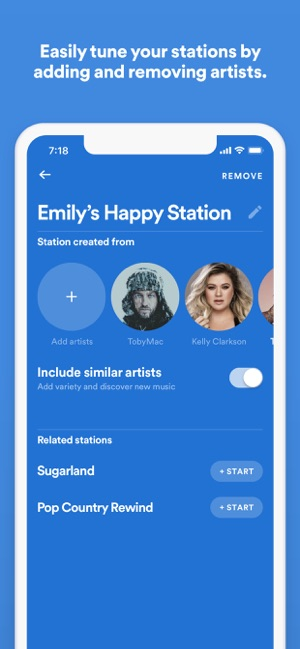 Spotify Stations on the App Store