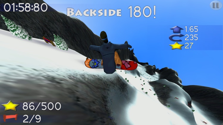 Big Mountain Snowboarding Lite screenshot-1