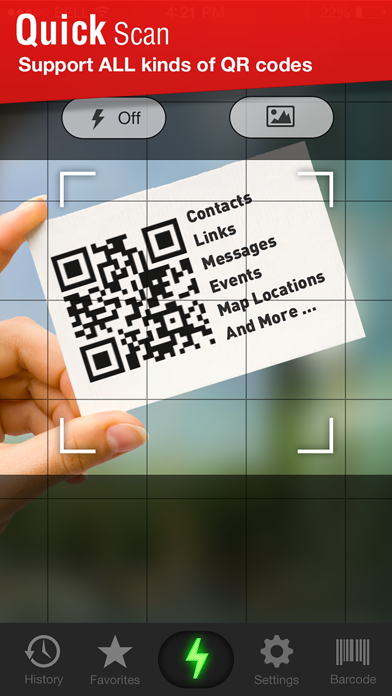 Quick Scan - QR Code Reader Screenshot 1