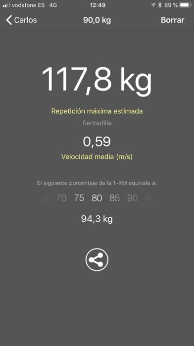 Screenshot for My Lift: Mide tu fuerza in Spain App Store