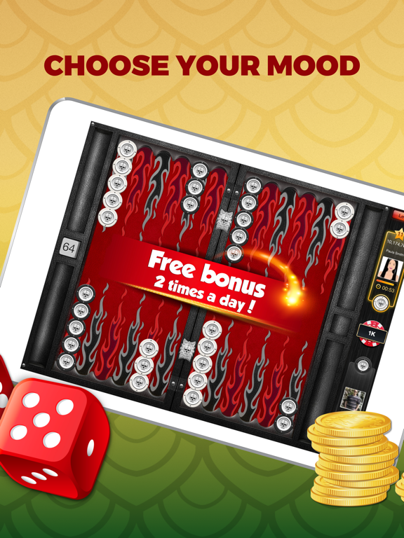Backgammon PlayGem Multiplayer Backgammon Game HD screenshot
