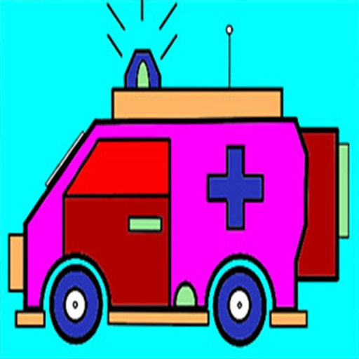 Ambulance Trucks Coloring
