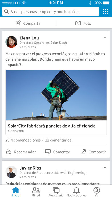 Screenshot for LinkedIn in Colombia App Store