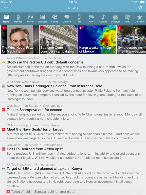 NewsFlash ~ Breaking News & World Headlines screenshot