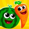 乳児 子供 ゲーム: 野菜 形色 幼児向け知育アプリ