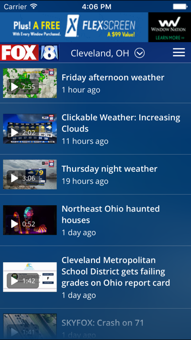 Fox8 Cleveland Weather review screenshots