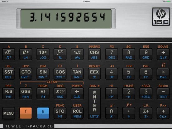 Hewlett Packard 15C Scientific Calculator screenshot